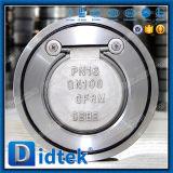 Didtek 30 anos de fabricante CF8m da válvula escolhe a válvula de verificação da placa