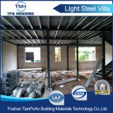 Fácil de la luz de la construcción de prefabricados de acero de Villa de lujo