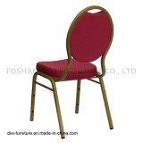 호텔 가구 눈물방울 Burgundy에 의하여 모방되는 직물과 형 거품을%s 가진 뒤 겹쳐 쌓이는 연회 의자