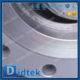 Válvula de mariposa compensada del acero inoxidable del borde del triple de Didtek