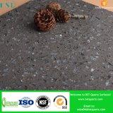 Grauer Zico Schein-künstlicher Quarz-Stein für Insel-Oberseiten