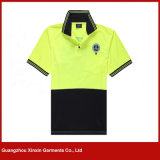Camisa colocada um colar roxa da camisa de polo das crianças da impressão feita sob encomenda (P230)