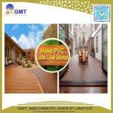 Linha de produção ao ar livre composta de madeira plástica do Decking do PE do PVC de WPC