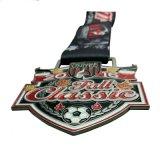 2017 حارّ عمليّة بيع عالة تصميم كرة قدم كرة قدم وسام مع تلألؤ