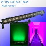 A lavagem ao ar livre IP65 da parede Waterproof a luz da barra do diodo emissor de luz de 14PCS 30W