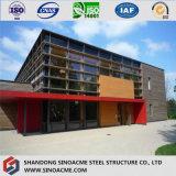 Construction préfabriquée de modèle de construction de bâti en acier de laines de verre de fibre