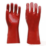 Длинные перчатки из ПВХ манжеты
