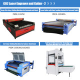 Auto máquina de estaca de alimentação da gravura da tela do sistema laser para o vestuário