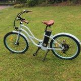 여자를 위한 바닷가 전기 자전거