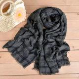 Сплетенное горизонтальное Striped полотно/шарф хлопка мягкий с выдалбливают вне (HQ02)