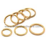 Высокое качество Mirro из полированной нержавеющей стали с плоским ключом кольцо для пользовательских с маркировкой