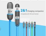 Micro para o iPhone e a Mutil-Função Android do cabo de dados 1 do USB retráteis