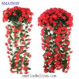 Flor artificial de Rose de la boda de la decoración de seda hecha a mano plástica del hogar