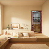 Porta de tela do projeto da porta do preço barato única para a casa