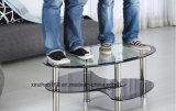 Xinzhaoはガラス表の倍の床のコーヒーテーブルの和らげを曲げた