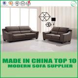 Stilvolles modernes hölzernes Rahmen-Wohnzimmer-Büro-Leder-Sofa