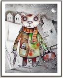 ظلام قطة زخرفة صورة زيتيّة في [فوتوببر] لأنّ جدار فنية