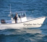 어업을%s Liya 25feet 중국 Panga 배 섬유유리 선체 배