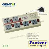 Heiße Gruppe-Universalextensions-Kontaktbuchse des Verkaufs-6 mit Schalter