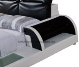 Modernes ledernes doppeltes Bett für Schlafzimmer-Raum