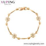 Braccialetto Chain dei monili d'ottone semplici di modo in oro della Rosa placcato