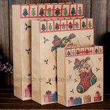 L'impression personnalisée sacs-cadeaux en papier brun avec des poignées pour Noël