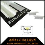 Anodisiertes Aluminiumgehäuse 6063-T5 für LED-hellen Stab vertiefte eingehangen