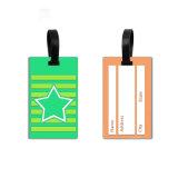 Custom style concis étiquette de bagages en caoutchouc Sac Luggage Tag