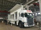 트럭 Foldable 단계를 가진 이동할 수 있는 쇼 트럭을 광고하는 P6 P8 P10 옥외 전시 이동할 수 있는 LED