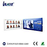 Productos superventas folleto video del LCD de 2.4 pulgadas para el asunto