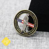 Pin duro del distintivo dello smalto del metallo della fabbrica del tasto su ordinazione di marchio