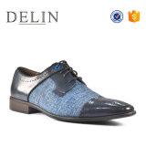 新しい人の高い等級通気性のビジネス靴ファブリック甲革