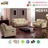 Sofá moderno do Recliner do couro genuíno da sala de visitas ajustado (HC015)