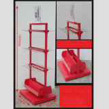 Hochleistungsfußboden-stehendes Socken-Schaukasten-Regal-kleine elektrische Produkte, die Haken-Bildschirmanzeige-Zahnstange hängen