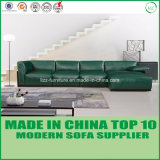 Sofà di legno di cuoio stabilito della mobilia contemporanea del salone con la piuma