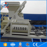 2016 mezclador concreto doble de calidad superior de los ejes Js1500