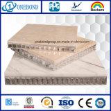 El panel de piedra natural con el panal de aluminio