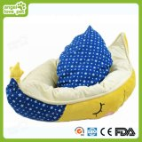 Half-Moon Shape Soft Plush Round Pet Dog Bed