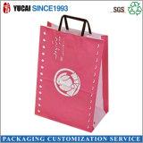 ショッピングのための平らなペーパーハンドルのクラフト紙袋