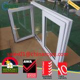 Ventana abatible de PVC, ventanilla de doble acristalamiento de impacto de huracán