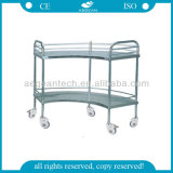 AG-Ss007 Surgical Room Instrument Metal Frame Chariot à provisions