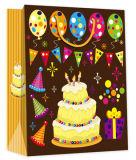 Серебряный горячий штемпелюя мешок конструкции дня рождения с текстом России
