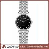 2017 neue Entwurfs-Form-populäre Edelstahl-Dame-Uhr
