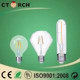 Alto bulbo G80 8W de la lámpara de filamento del lumen LED