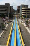 巨大で長い水スライドのスリップNのスライドの膨脹可能なスライド都市