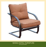 Silla de oscilación de aluminio llena del trineo de los muebles al aire libre sola para el conjunto del vector de la barbacoa