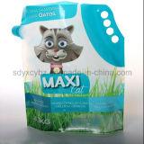 液体クリーニングまたは洗浄製品のための口が付いているポリ袋を立てなさい