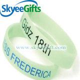 Wristband feito sob encomenda impresso do silicone do logotipo