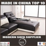 Sofá de couro de design italiano mais novo com luz LED (LZ-003)