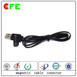 4pin Pogo Pin Magnet Connector avec USB Cable Factory